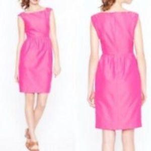 J. Crew Lucille Cotton Silk Pink Dress Sz 6P